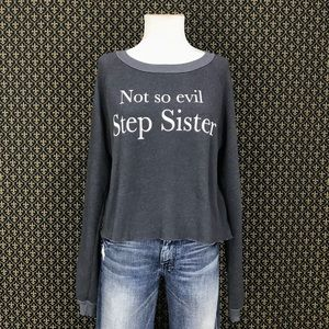 Wildfox Not So Evil Stepsister Cropped Sweatshirt